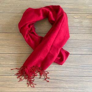 BCBG Gorgeous Scarlet Silk/Wool Scarf